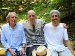 Avec mes amis Michel Etiévent et Patrick chemin lors de la promenade littéraire sur le sentier des Pointières ALBERTVILLE (SAVOIE) en hommage au poète H MOLLIEX le 09 juillet 2016