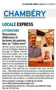 Article samedi 13 juin 15h00 Libre Erre
