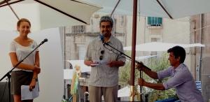 Intervention scène libre à Sète. Lecture du poème TAMGHARTE N'ANEFGOU en arabe et en français.