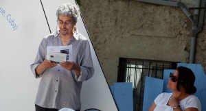 Lectures croisées « Scène libre »Voix Vives de Méditerranée en Méditerranée Sète juillet 2016 Photos Odile Bordelier