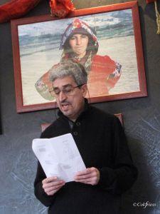 Lectures croisées de quelques poèmes de mon recueil « Cris du Maroc » avec Louise Ronco à l'Espace Jean Blanc en présence de Marc Chauvin adjoint à la culture à la mairie de la Ravoire Photo Cok Friess
