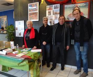 Avec Louise Ronco Marc Chauvin et Patrick Chemin à l'Espace Jean Blanc La Ravoire