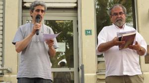 Les 30 ans de la cave littéraire à Villefontaine. Lecture d'un poème en arabe et en français par Pierre Vieuguet