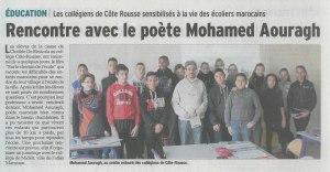 Rencontre avec le poète Mohamed Aouragh