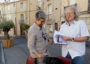"""Belles retrouvailles au festival """"Voix-Vives de Méditerranée """" 2014 à Sète, d'un ami SERGE VENTURINI Poète,perdu de vue depuis 1984… Nous nous sommes connus à MIDELT (MAROC), il était professeur de français au Lycée HASSAN II… Que de belles soirées passées à MIDELT avec d'autres amis (es) à converser … http://fr.wikipedia.org/wiki/Serge_Venturini"""