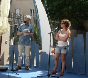 """Lecture de trois de mes poèmes en arabe et en français au festival """"Voix-Vives de Méditerranée """" 2014 à Sète, """"Scènes Ouvertes"""" le 22 et le 23 juillet"""