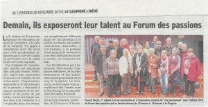 Forum des passions samedi 29 novembre